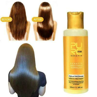Banana flavor Keratin treatment Straightening hair hair damage Repair frizz D1K6 | eBay