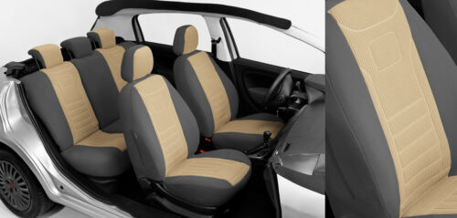 Beige Toyota Avensis I II III Maßgefertigte Velours Sitzbezüge VGB1