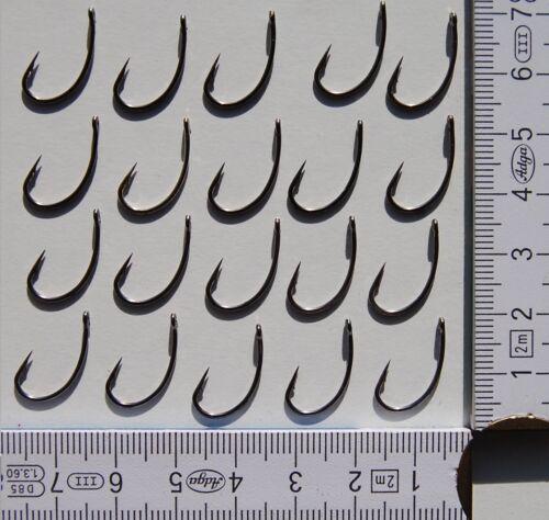 Größe 6# oder 8# Haken mit Widerhaken 20 x graue Nickel Karpfenhaken