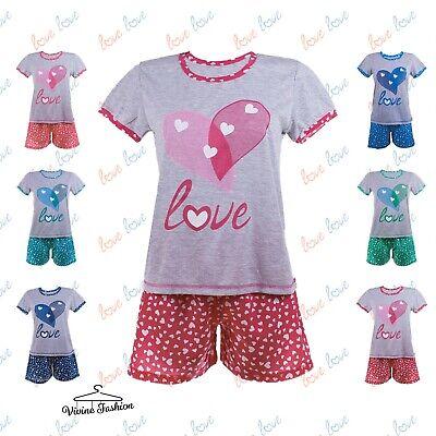 Professioneller Verkauf Ladies Short Sleeve Top & Shorts - Pyjama Set 6•8•10•12•14 Bc-67 SchöN In Farbe