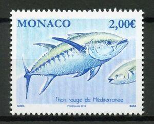 Monaco-2019-MNH-Atlantic-Bluefin-Tuna-1v-Set-Fish-Fishes-Marine-Stamps