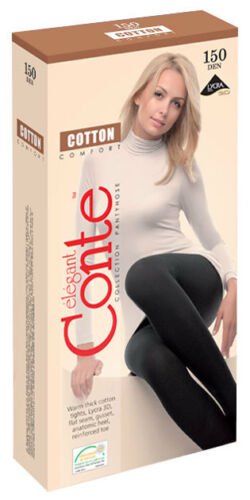 """Fine De Haute Qualité Femmes Collant Coton 3 D Effet /""""Cotton 150 le/"""" Conte"""