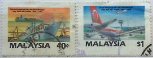 Malaysia Used Stamp - 2 pcs 1987 Asia Pacific Communications Decade