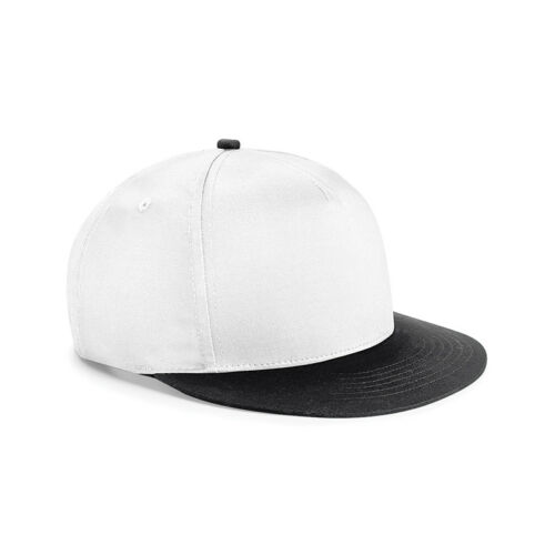 Beechfield Youth Size Retro Style Flat Peak Snapback Teen Hip Hop Casual Hat New