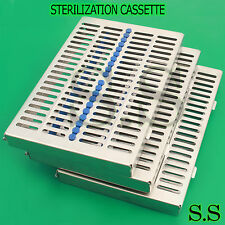 3 DENTAL AUTOCLAVE STERILIZATION CASSETTE RACK BOX TRAY FOR 20 INSTRUMENT