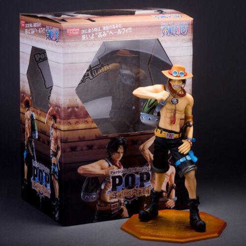 Ace PVC Figure 10th Limited Ver Anime One Piece POP Portgas D Toy No Box 23cm