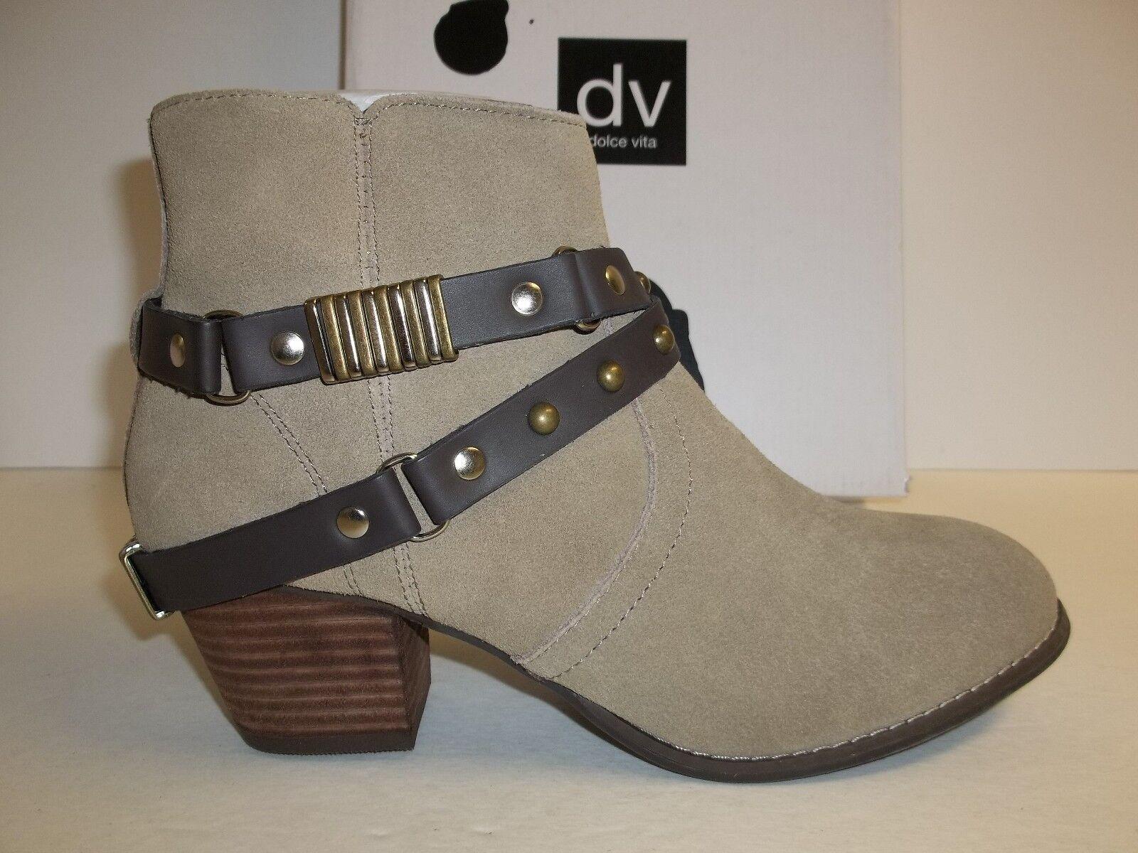Dolce Vita DV Größe 8 M Jacy Taupe Suede Ankle Stiefel NEU Damenschuhe Schuhes
