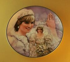 Diana, Princess of Wales Plate FAIRYTALE PRINCESS Di Franklin Mint Wedding Gown