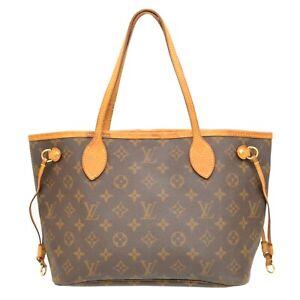 Louis Vuitton Neverfull PM M40155 Monogram Shoulder Tote Hand Bag Purse Brown LV