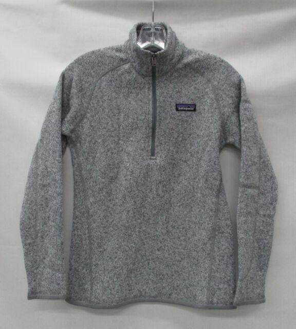 Patagonia Womens Better Sweater 14 Zip Pullover 25617 Birch White
