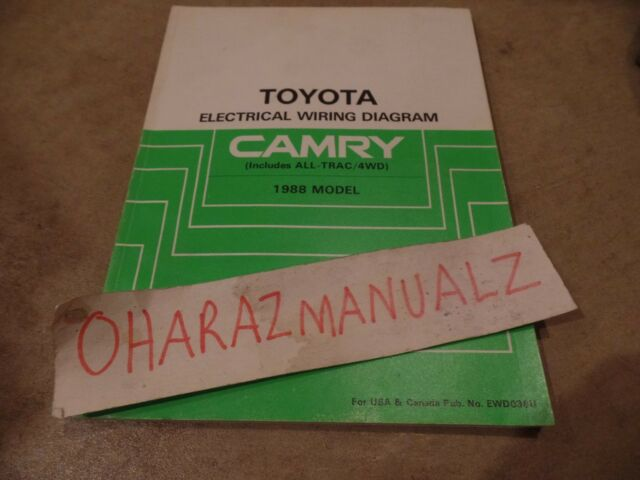 1988 Toyota Camry Including All