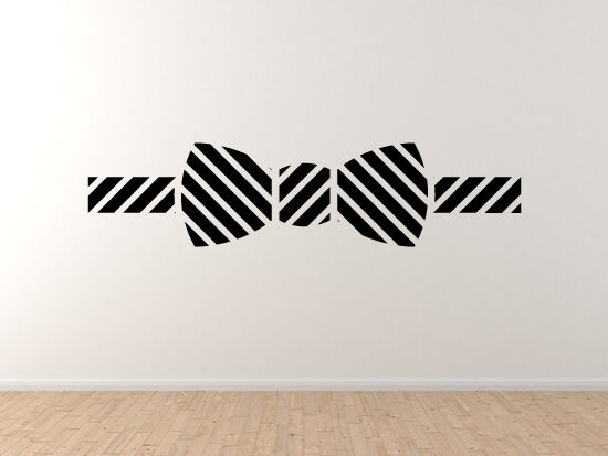 Bow Tie  3 - Fancy Dress Art Icon Clothing Silhouette - Vinyl Wall Decal Art