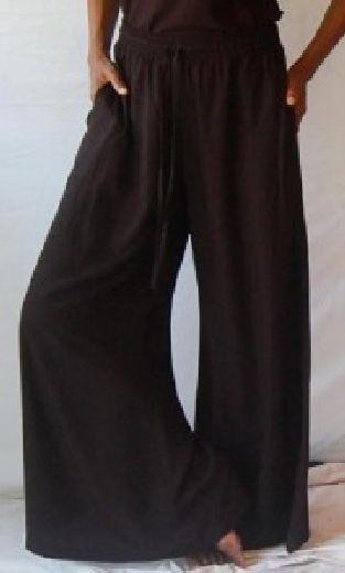 schwarz Palazzo Pantalon Größe Unique M L XL 1X 2X- 3X 4X 5X 6X Split jupe gaucho