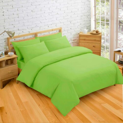 Single//Double//king Plain Reversible Solid Colour Duvet Bedding Set