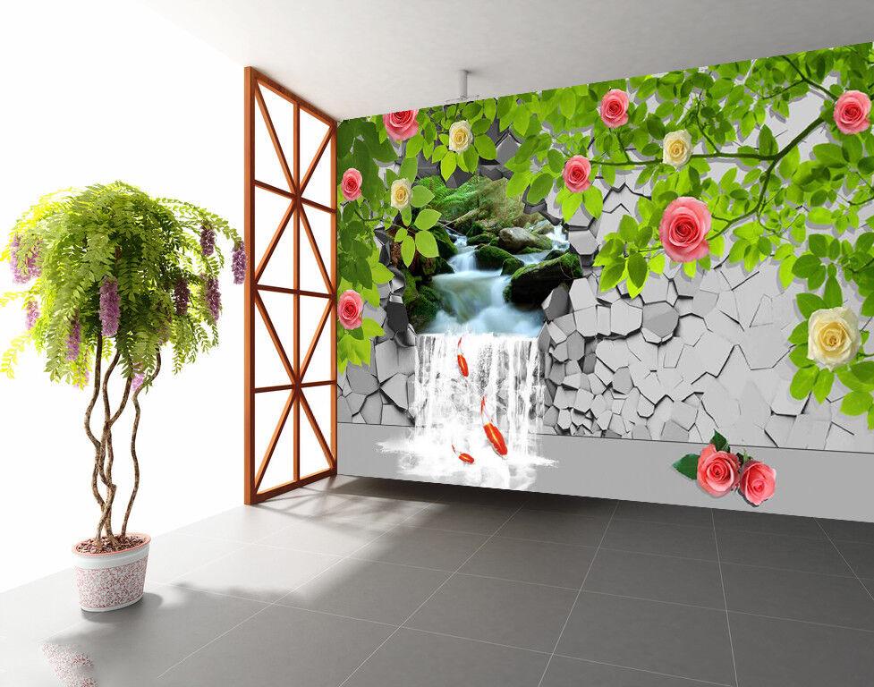 3D Flower Leaf Wall 725 Wallpaper Mural Paper Wall Print Wallpaper Murals UK