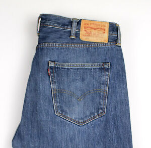Levi-039-s-Strauss-amp-Co-Hommes-501-Jeans-Coupe-Droite-Taille-W38-L34-AOZ1127