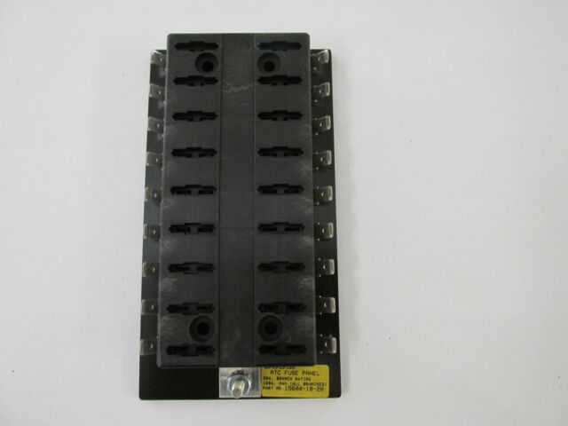 new bussmann 15600-18-20 18 position atc fuse panel block rv trailer boat