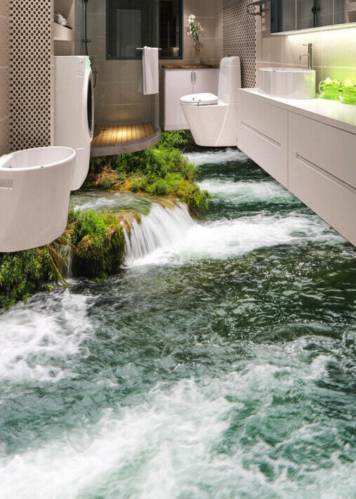 3D Nature River Plants 8 Floor WallPaper Murals Wall Print Decal AJ WALLPAPER US