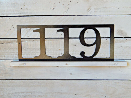 House Number Plaque Home Decor-Address Sign-Number Sign-Country-Folk Art-HN1073