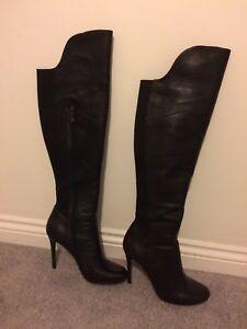 Leder schwarz 6 Stiefel Größe 6 schwarz  39 (Moda in Pelle ) PRP £200.00     770ced