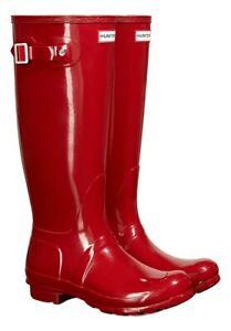 Magazzino Ladies Vendita Wellington Uk Red Size 5 Hunter New Gloss Wellies Boots fqgnfr