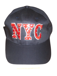 Image is loading womens-ladies-NYC-navy-amp-red-baseball-cap- dc27ef8183