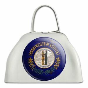 2019 Nouveau Style Rustique Kentucky State Flag Vieilli Usa White Cowbell Cow Bell Instrument-afficher Le Titre D'origine Nous Prenons Les Clients Comme Nos Dieux