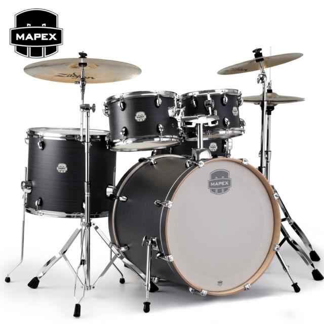 Mapex STORM 5 Piece Rock Full Size Drum Set Ebony Blue Grain Finish ST5295FCIK