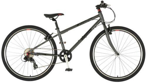 """Free Sticker Sheet Squish Super lightweight Childs Bike Bicycle 26/"""" Grey"""