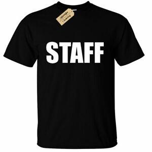 Mens-STAFF-T-Shirt-Trip-School-Camp