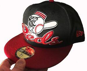 34b9f8a42 Details about CINCINNATI REDS MLB NEWERA FITTED 59FIFY CAP HAT LID CUSTOM  NEW ERA