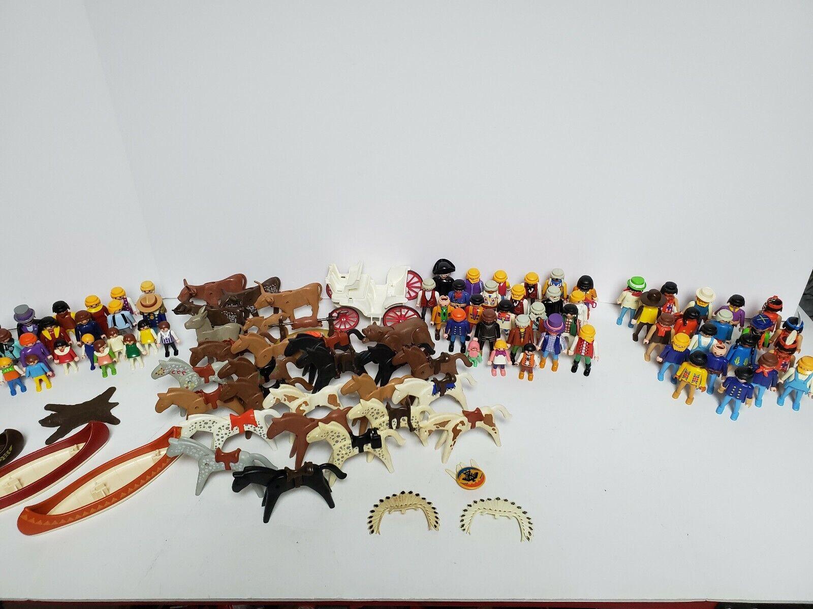 Vintage Playmobil  Années 70 années 80 et années 90 200 figures 1000 peices RARE  prix bas discount