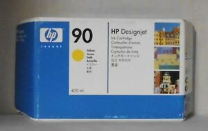 Original-HP-90-Tintenpatrone-C5065A-yellow-Designjet-4000-4000ps-4500-11-2016