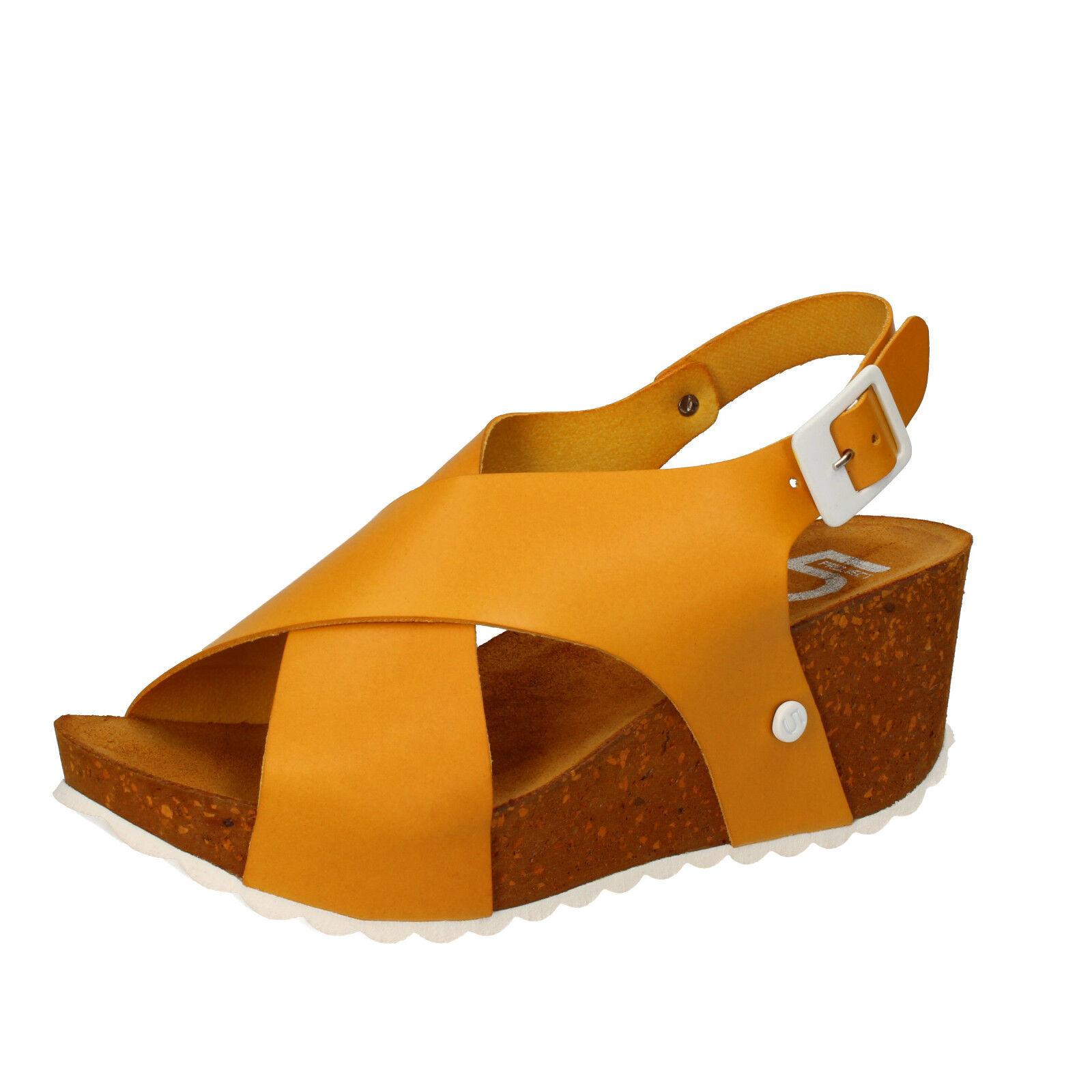 am billigsten Damen schuhe 5 PRO JECT 40 EU sandalen gelb