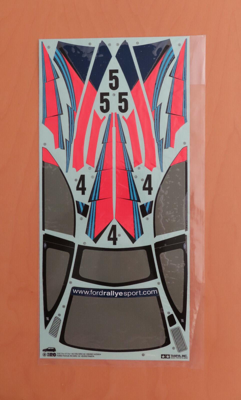 acquista marca RC Tamiya DECAL 58292 FORD FOCUS FOCUS FOCUS WRC'02 NUOVO NIB 2002  alta qualità