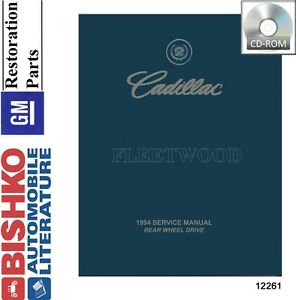 image is loading 1994-cadillac-fleetwood-shop-service-repair-manual-cd-