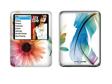 White Black Flower Skin Sticker Cover For iPod Nano 3 3rd Gen Protector