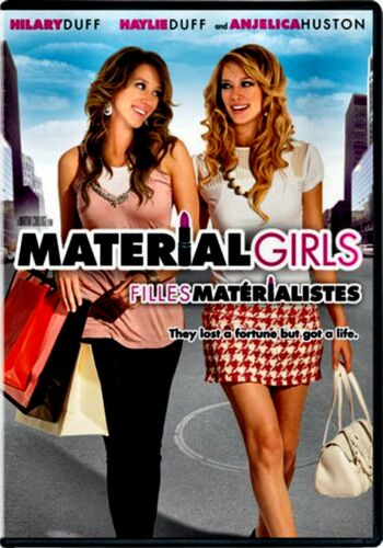 1 of 1 - USED DVD - MATERIAL GIRLS - Hilary Duff, Haylie Duff, Anjelica Huston