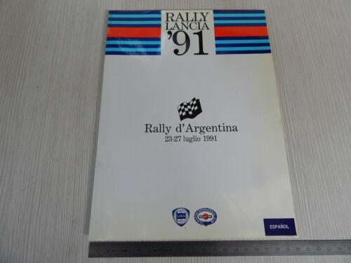 CARTELLA STAMPA ORIGINALE 1991 RALLY D/'ARGENTINA LANCIA DELTA HF integrale 16v