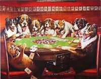 Dogs Playing Poker Metal Tin Sign, New, Free Shipping on Sale