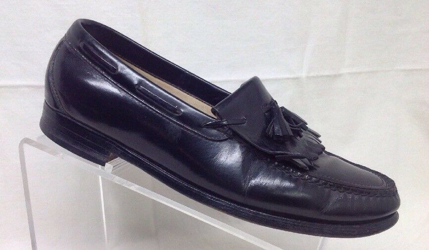 SAS Mens Black Leather Kiltie Tassel Moc e1 toe Loafers 10.5 M e1 Moc 89698f