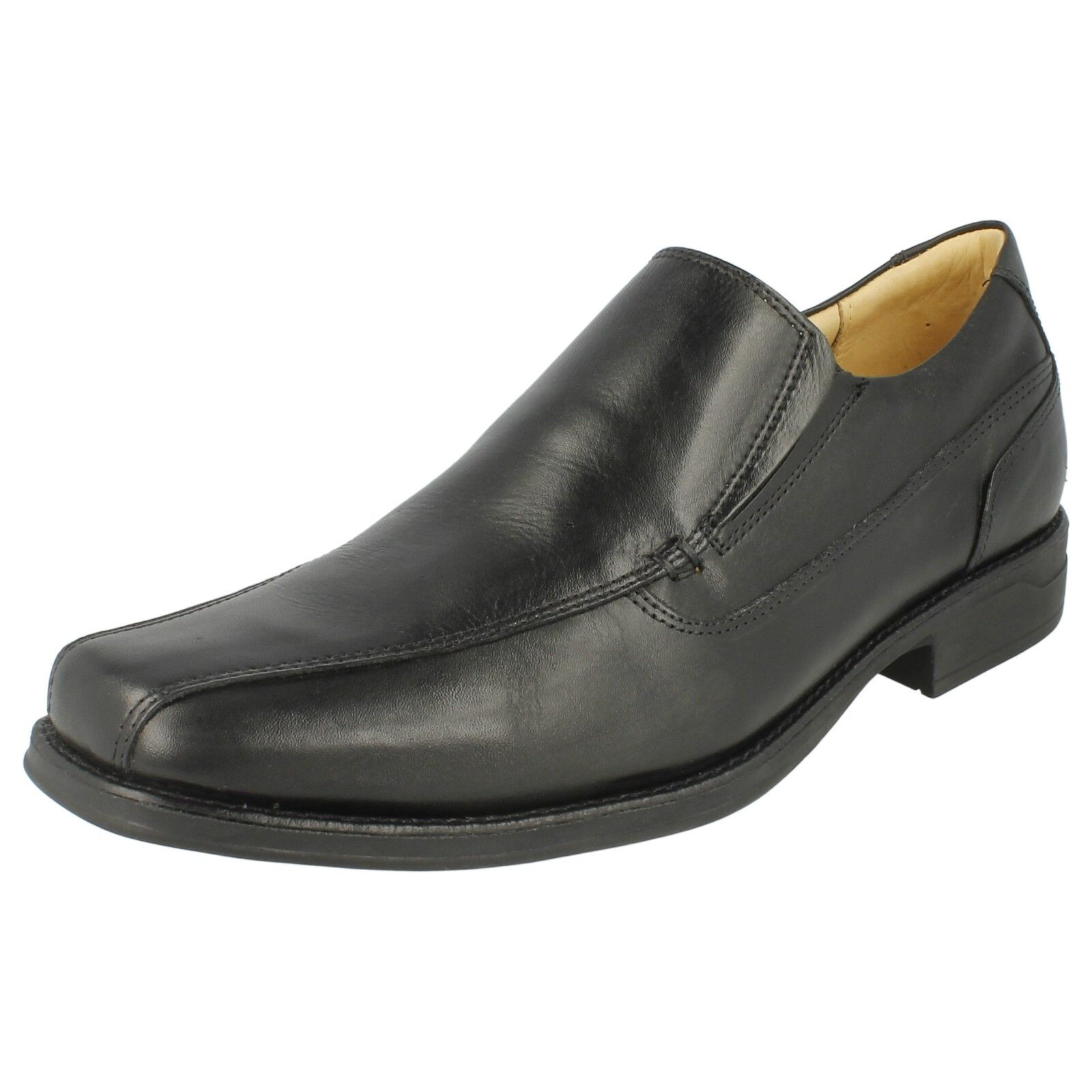 Mens Anatomic & Co Poloni Black Leather Smart Slip On Shoes
