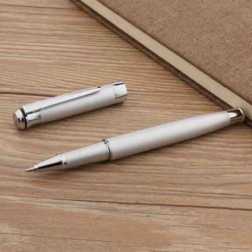 gift Writing Crown new MATTE Silver Trim office Rollerball Pen