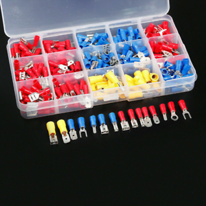 280PCS-Assorted-Crimp-Spade-Terminal-Insulated-Electrical-Wire-Connector-Kit-Set