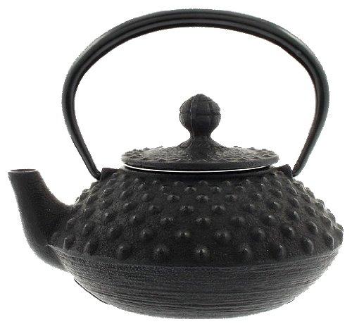 IWACHU Japonais fonte Tetsubin théière, Small, Noir Hailstone Pattern