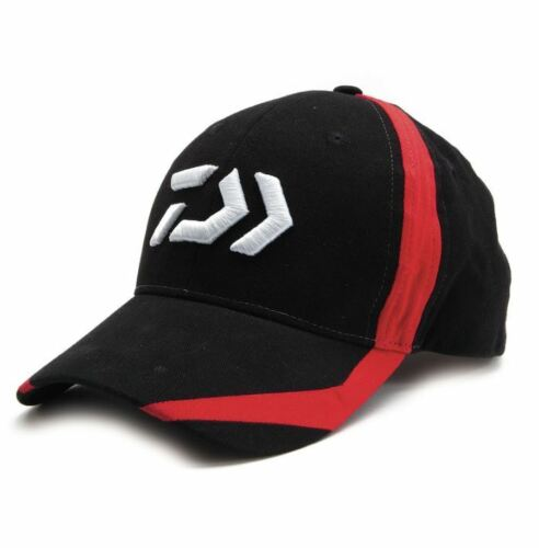 New Daiwa D-Vector Logo Fishing Cap Red DC3 Black