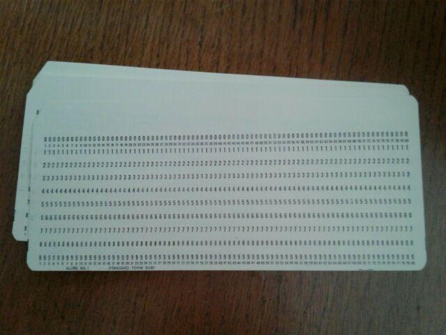 IBM 80-column Punch Cards (25)