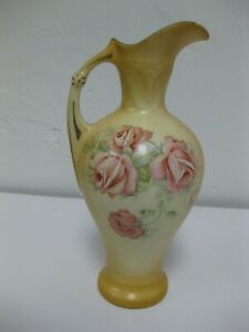 Austrian Vintage Mini Vase Pottery Ceramic Hand Painted Floral ORIGINAL RARE