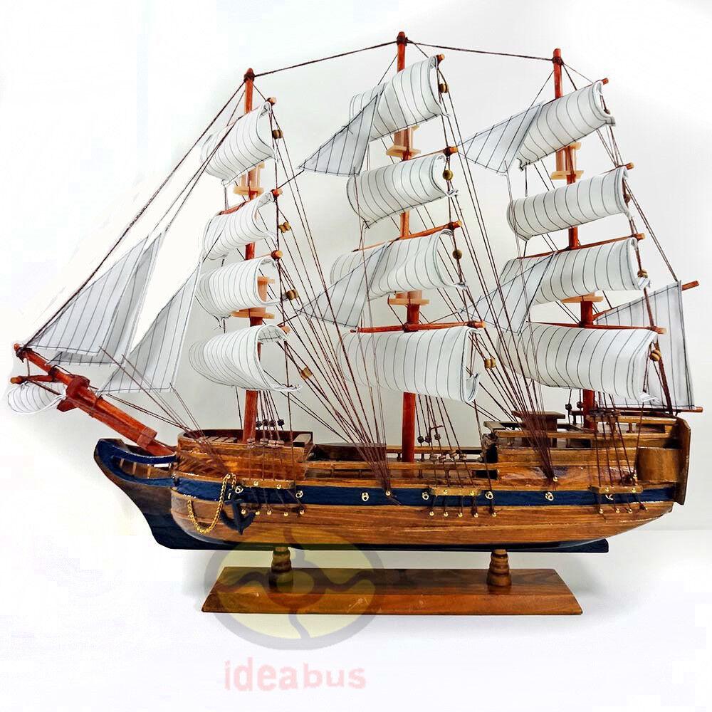 "Handmade WOOD MODEL 10/"" Sailing Boat Tall Ship Sailer Yacht Home Nautical decor"