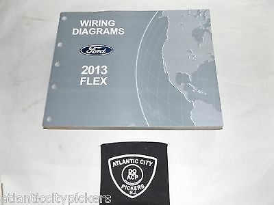 2013 ford flex electrical wiring diagrams factory oem service manual | ebay